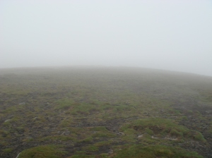 Fog at the top meant the instruction was tricky to follow